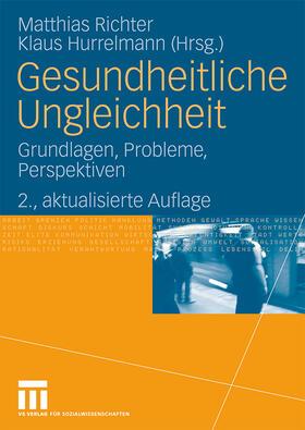 Richter / Hurrelmann   Gesundheitliche Ungleichheit   Buch   sack.de