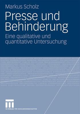 Scholz   Presse und Behinderung   Buch   Sack Fachmedien