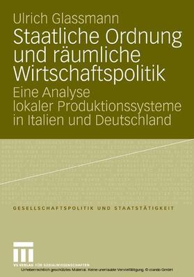 Glassmann   Staatliche Ordnung und räumliche Wirtschaftspolitik   E-Book   sack.de