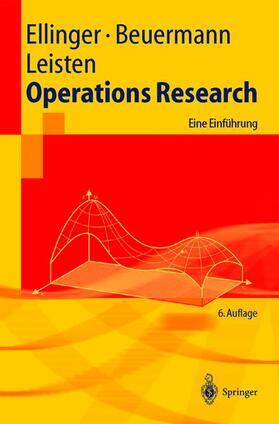 Ellinger / Beuermann / Leisten | Operations Research | Buch | sack.de