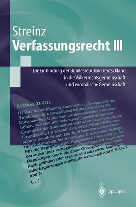 Streinz | Verfassungsrecht. Tl.3 | Buch | Sack Fachmedien