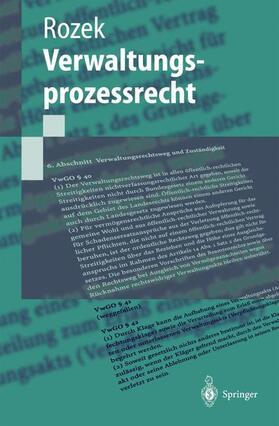 Rozek   Verwaltungsprozessrecht   Buch   Sack Fachmedien