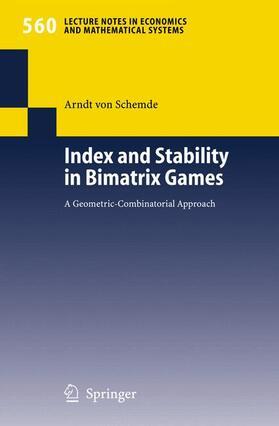 Schemde | Index and Stability in Bimatrix Games | Buch | sack.de