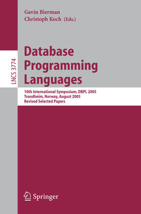 Bierman / Koch | Database Programming Languages | Buch | sack.de
