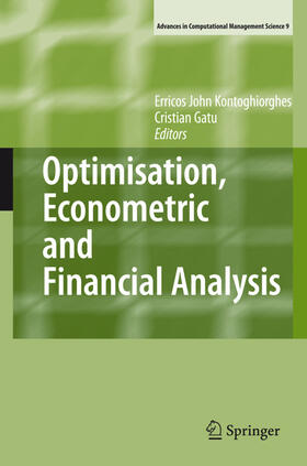 Gatu / Kontoghiorghes | Optimisation, Econometric and Financial Analysis | Buch | sack.de
