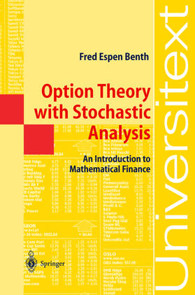 Benth | Option Theory with Stochastic Analysis | Buch | sack.de