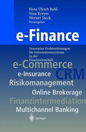 Buhl / Steck / Kreyer | e-Finance | Buch | sack.de