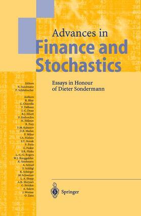 Sandmann / Schönbucher | Advances in Finance and Stochastics | Buch | sack.de