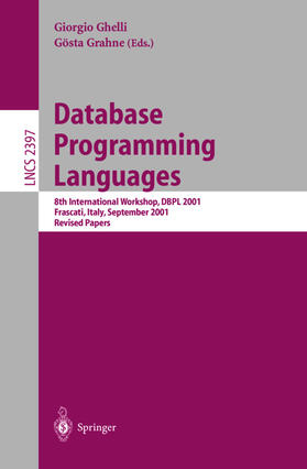 Ghelli / Grahne | Database Programming Languages | Buch | sack.de