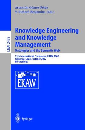 Benjamins | Knowledge Engineering and Knowledge Management: Ontologies and the Semantic Web | Buch | Sack Fachmedien