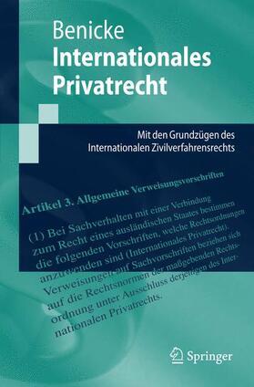 Benicke | Internationales Privatrecht | Buch | Sack Fachmedien