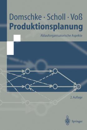 Domschke / Voß / Scholl   Produktionsplanung   Buch   sack.de