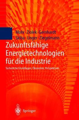 Gernhardt / Mohr / Ziolek | Zukunftsfähige Energietechnologien für die Industrie | Buch | sack.de