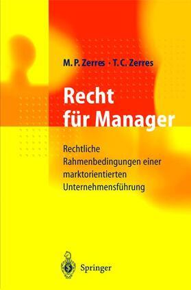 Zerres / Zerres   Recht für Manager   Buch   sack.de
