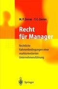 Zerres / Zerres    Recht für Manager   Buch    Sack Fachmedien