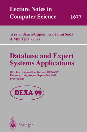 Bench-Capon / Soda / Tjoa   Database and Expert Systems Applications   Buch   Sack Fachmedien