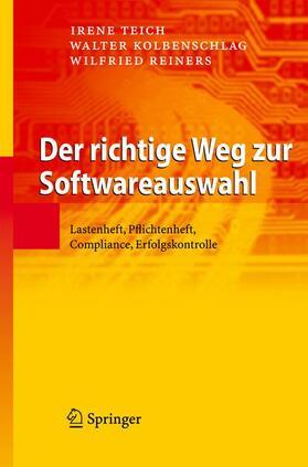 Teich / Kolbenschlag / Reiners | Der richtige Weg zur Softwareauswahl | Buch | sack.de