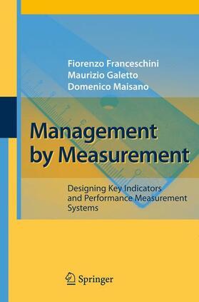 Franceschini / Maisano / Galetto | Management by Measurement | Buch | sack.de