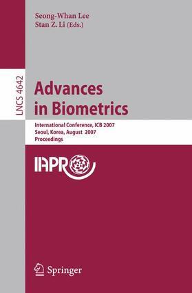 Lee / Li | Advances in Biometrics, 2 Vols. | Buch | sack.de