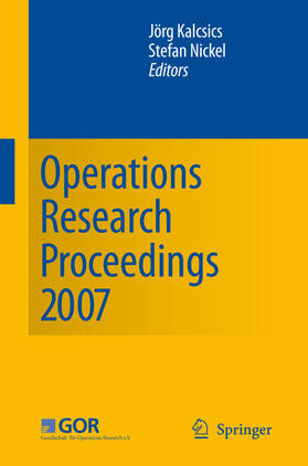 Kalcsics / Nickel | Operations Research Proceedings 2007 | Buch | sack.de