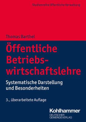 Barthel / Barthel   Öffentliche Betriebswirtschaftslehre   Buch   sack.de