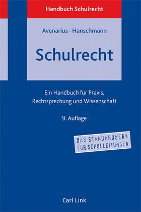 Avenarius / Hanschmann / Avenarius | Schulrecht | Buch | sack.de