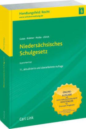 Galas / Krömer / Nolte | Niedersächsisches Schulgesetz | Buch | sack.de