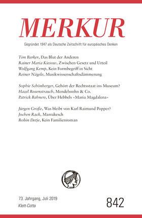Demand | MERKUR Deutsche Zeitschrift für europäisches Denken. Nr.841 | Buch | sack.de