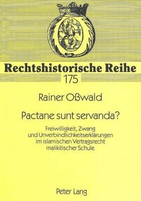 Osswald   Pactane sunt servanda?   Buch   sack.de