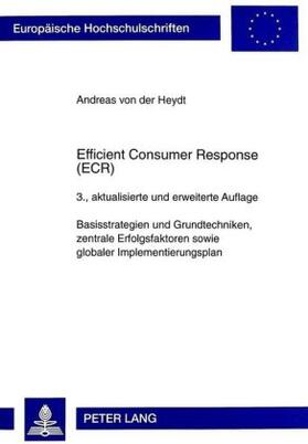 von der Heydt | Efficient Consumer Response (ECR) | Buch | sack.de