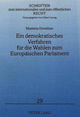 Eisenhauer   Ein demokratisches Verfahren für die Wahlen zum Europäischen Parlament   Buch   sack.de