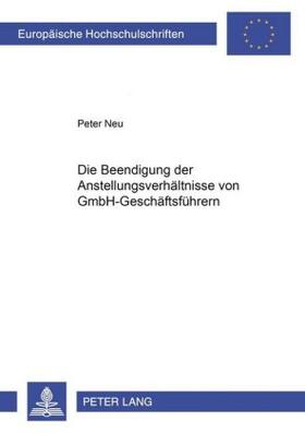 Neu | Die Beendigung der Anstellungsverhältnisse von GmbH-Geschäftsführern | Buch | sack.de