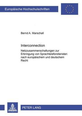 Marschall | Interconnection | Buch | sack.de