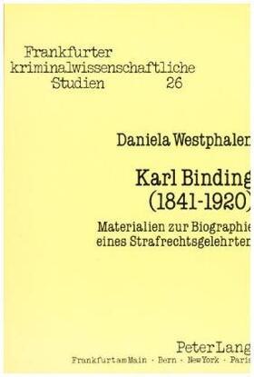 Westphalen | Karl Binding (1841-1920) | Buch | sack.de