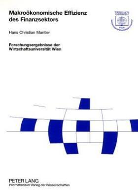 Mantler | Makroökonomische Effizienz des Finanzsektors | Buch | sack.de
