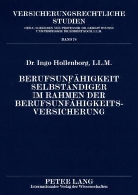 Hollenborg | Berufsunfähigkeit Selbständiger im Rahmen der Berufsunfähigkeitsversicherung | Buch | sack.de