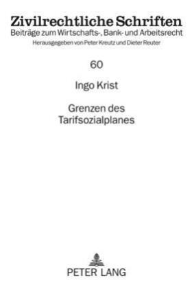 Krist | Grenzen des Tarifsozialplanes | Buch | sack.de