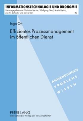 Ott | Effizientes Prozessmanagement im öffentlichen Dienst | Buch | sack.de