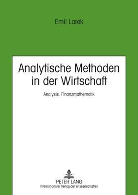 Larek | Analytische Methoden in der Wirtschaft | Buch | sack.de