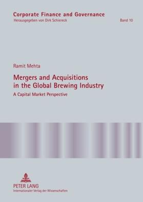 Mehta | Mergers and Acquisitions in the Global Brewing Industry | Buch | sack.de