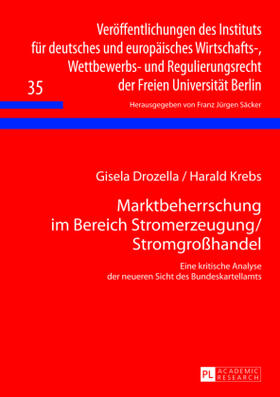 Drozella / Krebs   Marktbeherrschung im Bereich Stromerzeugung/Stromgroßhandel   Buch   sack.de