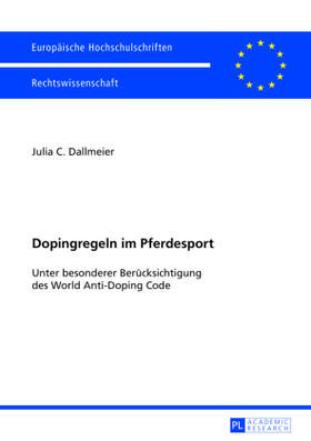 Dallmeier   Dopingregeln im Pferdesport   Buch   sack.de