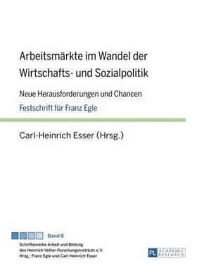 Esser | Arbeitsmärkte im Wandel der Wirtschafts- und Sozialpolitik | Buch | sack.de