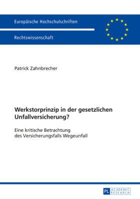Zahnbrecher | Werkstorprinzip in der gesetzlichen Unfallversicherung? | Buch | sack.de