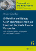 Babl |  E-Mobility and Related Clean Technologies from an Empirical Corporate Finance Perspective | Buch |  Sack Fachmedien