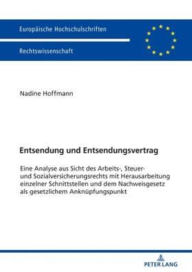 Hoffmann | Entsendung und Entsendungsvertrag | Buch | sack.de