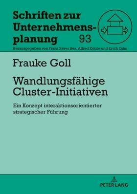 Goll   Wandlungsfähige Cluster-Initiativen   Buch   sack.de