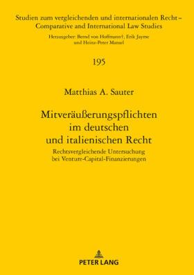 Sauter | Mitveräußerungspflichten im deutschen und italienischen Recht | Buch | sack.de
