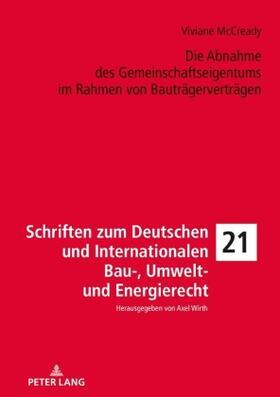McCready   Die Abnahme des Gemeinschaftseigentums im Rahmen von Bauträgerverträgen   Buch   sack.de