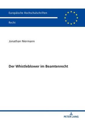 Niermann | Der Whistleblower im Beamtenrecht | Buch | sack.de